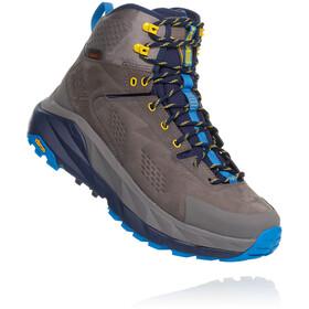 Hoka One One Sky Kaha Hiking Shoes Men charcoal grey/blue